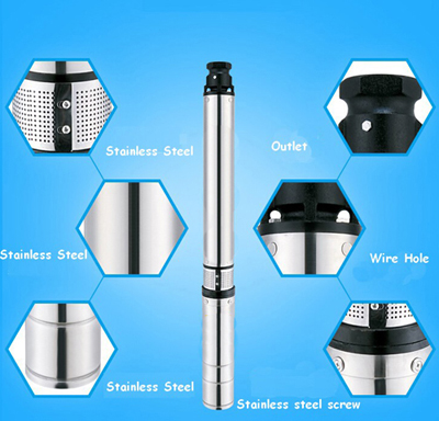 220v stainless steel submersible deep well pump 1hp 8 9gpm. Black Bedroom Furniture Sets. Home Design Ideas