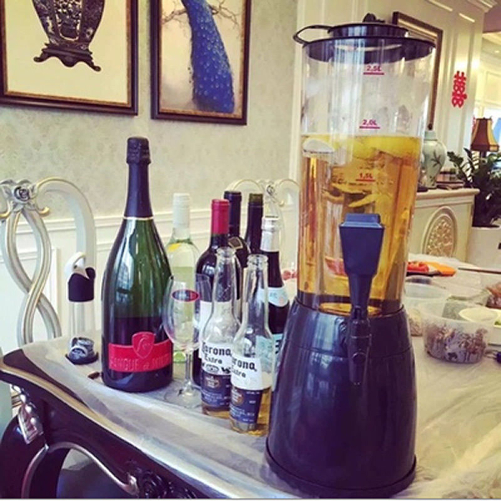2 5l Beer Tower Dispenser Table Top Beverage Cold Draft