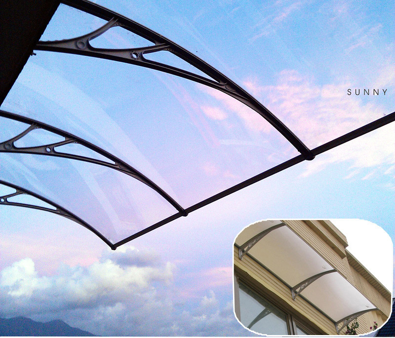 "30""*40"" Clear Polycarbonate Awning UV Protected Patio"