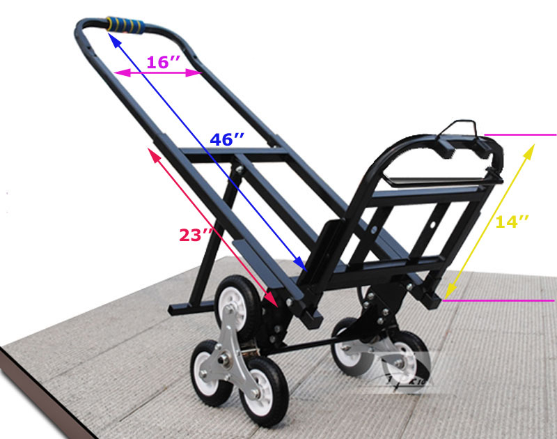 Portable Stair Climbing Folding Cart Climb Hand Truck
