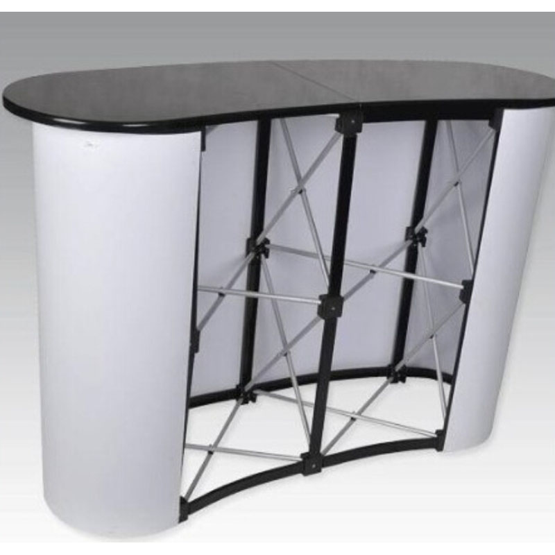 Portable Exhibition Table : Business trade show exhibit counter frame portable table